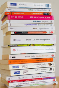 Pile of French books