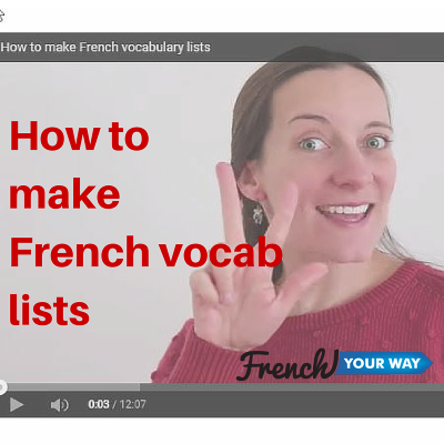 how to make French vocab lists - image
