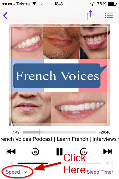 improve your French listening skills - podcast screenshot 01