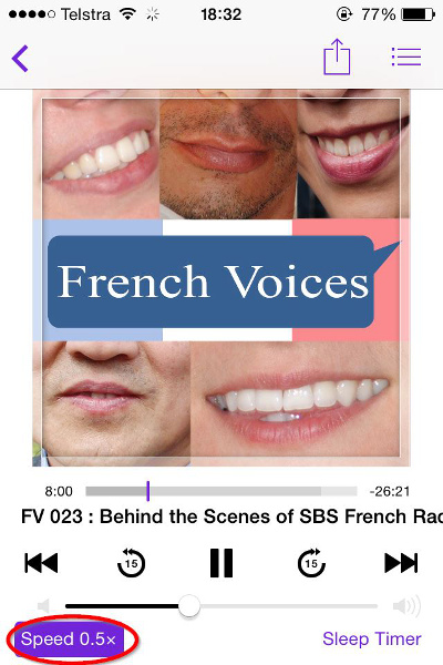 improve your French listening skills - podcast screenshot 02