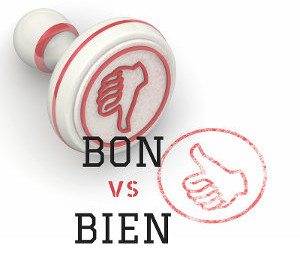 How to know when to use bon / bien in French?
