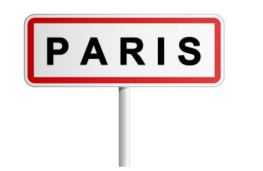Driving in France: Paris road sign